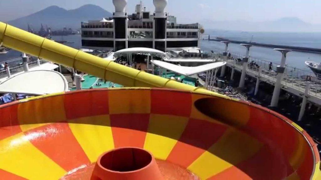 Slide at sea