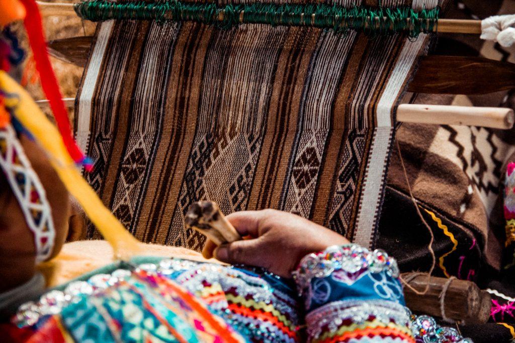 Traditional weaving in Peru